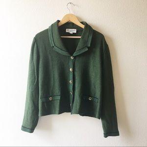 St. John Collection Vintage green knit jacket